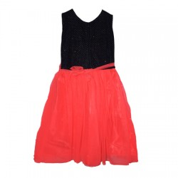 AD & AV Girls Midi/Knee Length Casual Dress RED MOTI (495)