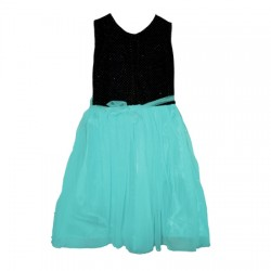 AD & AV Girls Midi/Knee Length Casual Dress GREEN MOTI MOTI (496)