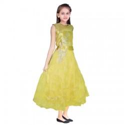 AD & AV Girls Midi/Knee Length Casual Dress GOLDEN SPARKEL (538)