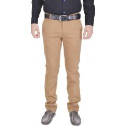 Slim Fit Men Brown Trousers