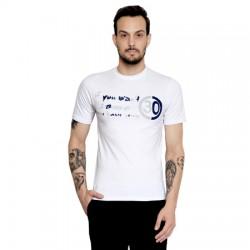 AD & AV Solid Men's U-neck WHITE T-Shirt HS (554)