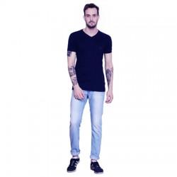 AD & AV Solid Men's U-neck NEVY T-Shirt HS (658)