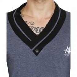 AD & AV Solid Men's CHINIES NECK BLUE T-Shirt FS (663)