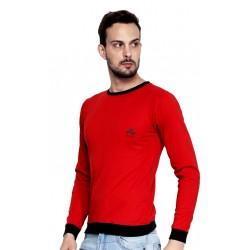 AD & AV Solid Men's U-NECK RED T-Shirt FS (666)