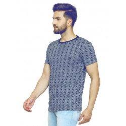 AD & AV Checkered Men's Round Neck Multicolor T-Shirt (706)
