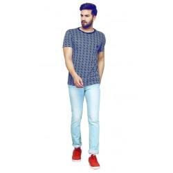 AD & AV Checkered Men's Round Neck Multicolor T-Shirt (706)