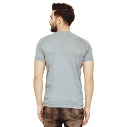 AD & AV Solid Men's V-neck GREY T-Shirt HS (724)