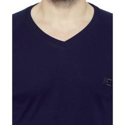AD & AV Solid Men's V-neck NAVY T-Shirt HS (725)