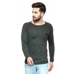 AD & AV Solid Men's Henley Grey T-Shirt OD CUT  (728)