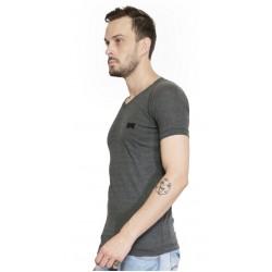 AD & AV Solid Men's V-neck GREY T-Shirt HS (660)