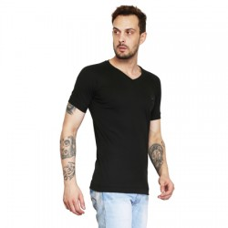 AD & AV Solid Men's V-neck RED T-Shirt HS (661)