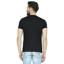 AD & AV Solid Men's U-neck BLACK T-Shirt HS (719)