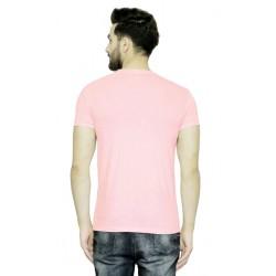 AD & AV Solid Men's U-neck PINK T-Shirt HS (720)