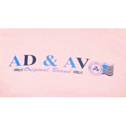 AD & AV Solid Men's U-neck PINK T-Shirt HS (720)