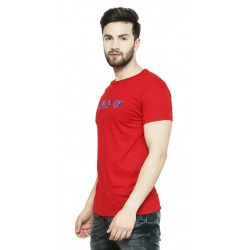 AD & AV Solid Men's U-neck RED T-Shirt HS (721)