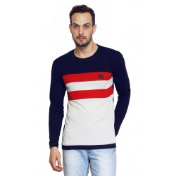 AD & AV Solid Men's U-neck nevy T-Shirt FS (667)