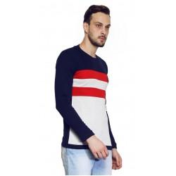 AD & AV Solid Men's U-neck nevy T-Shirt FS (667)