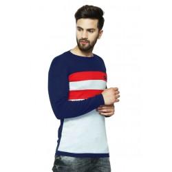 AD & AV Solid Men's U-neck NEVY T-Shirt FS (709)