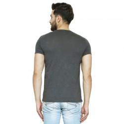 AD & AV Solid Men's U-neck GREY T-Shirt HS (708)