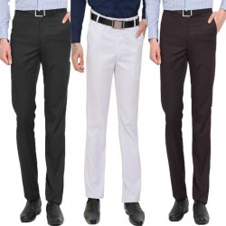 Regular Fit Men Multicolor Trousers