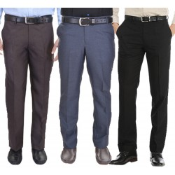 Regular Fit Men's pack of 3gd black blue coffi