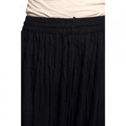 AD & AV Solid Women's Broomstick BLACK RAYON  Skirt (192)