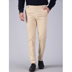 Regular Fit Men CREAMTrousers