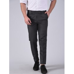Regular Fit Men GREY Trousers