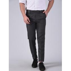 Regular Fit Men GREY Trousers