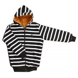 Full Sleeve Striped Boy's Reversible Sweatshirt