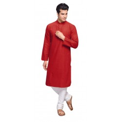 Men    PLAIN RED KURTA PAJAMA