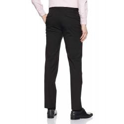 Regular Fit Men's Black Trousers