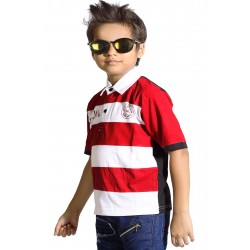 Boy's Printed Cotton T Shirt  (Light Blue, Pack of 1)