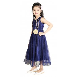 AD & AV Girls  FROCK BLUE-SPARKLE