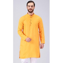 AD & AV MEN'S YELLOW KURTA