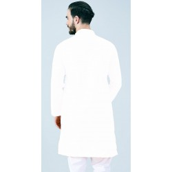 AD & AV MEN'S WHITE KURTA