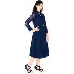 AD & AV  GIRLS MIDI NEVY COLLAR