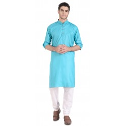 Men KURTA PAIJAMA SET  SKYBLUE