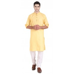 Men'S KURTA PAIJAMA SET LEMON