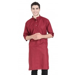 Men'S KURTA  MAROON