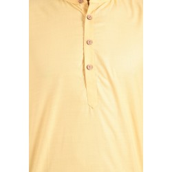 Men'S KURTA  LEMON