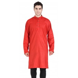 Men'S KURTA  RED