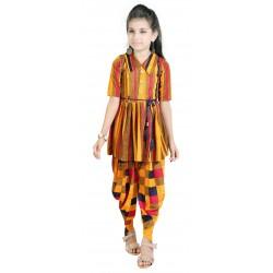 AD & AV Girls  Casual Dress ( PANJABI SUIT YELLOW )
