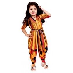 AD & AV Girls  Casual Dress ( PANJABI SUIT YELLOW)