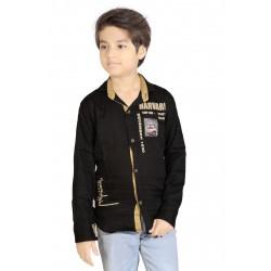 AD & AV Boy's Casual Spread Shirt BLACK  (594)