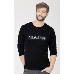 AD & AV BLACK FULL SLEEVE SHIRT