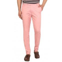 Regular Fit Men BEBY PINK Trousers