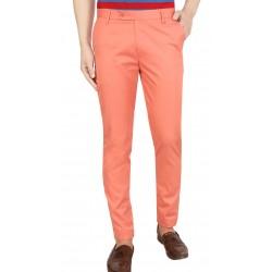 Regular Fit Men DARK PINK Trouser