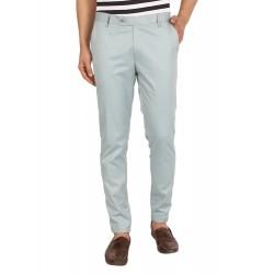Regular Fit Men STEEL GREY Trousers
