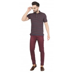 Regular Fit Men  BALENO MAROON Trousers
